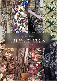 Tapestry Girls » Philosophy di Lorenzo Serafini / Flowers Look Like Women by Eduardo Doreni / Antonio Marras / Ann's Orchard by Gwyn Marathas / Colourful Seamless pattern by Tatyana Anisimova / No 21 / Antique Floral by Oslo Prints / Adam Lippes