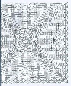 How to Crochet a Solid Granny Square Crochet Bedspread Pattern, Crochet Doily Diagram, Crochet Motif Patterns, Crochet Chart, Crochet Doilies, Crochet Cushion Cover, Crochet Cushions, Crochet Pillow, Crochet Tablecloth