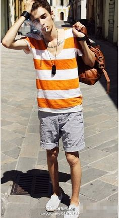 my bf should get this top. Envy, Polo Shirt, Hipster, Orange, Mens Tops, Shirts, Clothes, Street, Fashion
