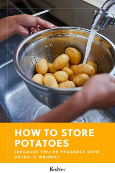 Here's the lowdown on how to store potatoes properly so you never have to waste your prized purchase again. (Because you've probably been doing it wrong.) #fresh #storage #potatoes How To Store Potatoes, Storing Potatoes, Cooking Tips, Cooking Food, Food Food, Potato Storage, Making Mashed Potatoes, Breakfast Hash, Recipe Please