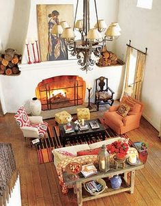 warm fire place
