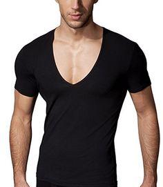 Doreanse Underwear Herren Deep V Neck T-Shirt Männer Tiefer V-Ausschnitt Shirt Schwarz (S - 44/46, Schwarz) Doreanse Underwear http://www.amazon.de/dp/B00LMFLRTU/ref=cm_sw_r_pi_dp_Iy7wub17FYZS7