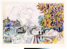 Paul Signac. Paris: Pont Royal and the Gare d'Orsay