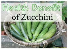 Zucchini is good for reducing weight, furthermore it promote your eye health, and stop all the diseases that develop from deficiency of vitamin C like sclerosis, scurvy ...