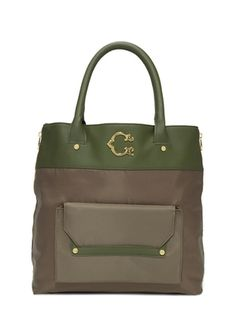 bf8c50957d C. WONDER Nylon Tote with Trim. (love things with my initials) C