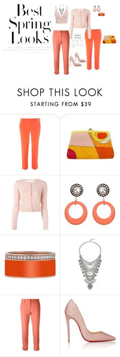 """""""Spring into action"""" by lisavern ❤ liked on Polyvore featuring Dorothy Perkins, Emilio Pucci, RED Valentino, Alberto Biani, Christian Louboutin and H&M"""