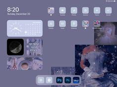 Iphone Home Screen Layout, Iphone Layout, Iphone Wallpaper App, Iphone Wallpaper Tumblr Aesthetic, Ipad Ios, Ipad Tablet, Cute Home Screens, Phone Themes, Ios Design