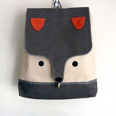 Backpack The Fantastic Fox UNISEX BackPack di littleoddforest