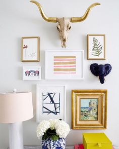 Our best selling El Dorado (top) brings a little edge + glam to any wall. #katiekimeart #katiekimewalls