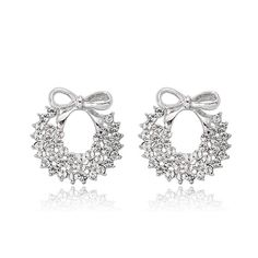 Elegant Butterfly Clear Swarovski Crystal with Post Back Earrings