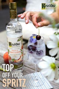 Topping off our spritz with a little taste of spring like…