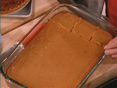 Paula Deen's Pumpkin Gooey Butter Cakes. Way better than pumpkin pie! Easy and awesome!