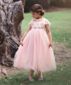 57c38d73950b Look what I found on  zulily! Light Pink Scarlett Gown - Toddler ...
