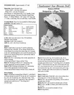 2 Doll Motif to Crochet - bastelideen kinder Crochet Kitchen, Crochet Home, Crochet Crafts, Crochet Projects, Crochet Doll Pattern, Crochet Motif, Crochet Dolls, Crochet Patterns, Sunbonnet Sue