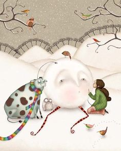 Adorable creativity—Once Upon a Holiday—artist, Lisa Evans❣ Firefluff Blog: Fairytale art