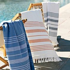 Fouta Beach Towel - Baltic Woven in the tradition of fine Turkish -                                 d
