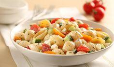Σαλάτα ζυμαρικών με γιαούρτι και δυόσμο