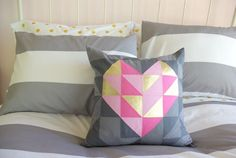 Geometric heart pillow DIY | Jeran of Oleander and Palm