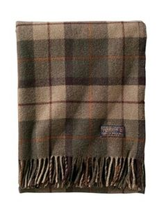 Pendleton Thomas Kay Lambswool Throw in Peat Moss......comes in three other colors.  Made in the U.S.
