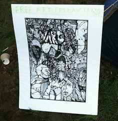 Free Art Friday - at reading festival. www.ruffrootcreative.com  on We Heart It