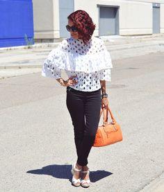 Look con bolso naranja #gabbysweetstyle #kissmylook