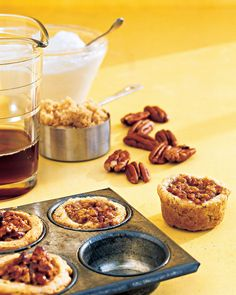 These tart-like cookies feature the flavors and textures of pecan pie -- tender, buttery crust, crunchy pecans, and brown-sugar filling -- all in one bite. Martha made this recipe on Martha Bakes 409.