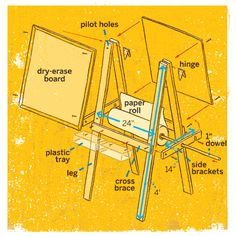 Illustration: Carl Wiens | thisoldhouse.com | from How to Build an Easel