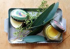 making your own lip balm with essential oils.  step by step instructions with photos