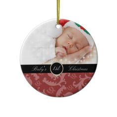baby's 1st Christmas photo keepsake holiday ornament