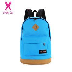 YANXI New 2016 top brand cloth school bags for teenagers pop quiz bagpack men mochilas sale spanish oxford women's backpacks