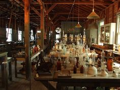 Thomas Edison's Florida laboratory at Edison & Ford Winter Estates in Fort Myers, FL