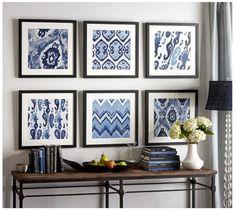 DIY Wall Art: Shades of Blue Art Tutorial