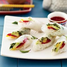 Vegetable Summer Rolls with Chile-Lime Dipping Sauce Recipe - Delish