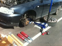 Audi adjustable coil overs up grade
