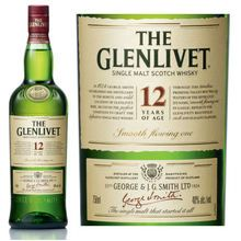 The Glenlivet 12 Year Old Speyside Single Malt Scotch 750ml Off-dry malted barley and light toffee smells greet the olfactory sense along with flowery fragrances of heather, rose petal and pine. Entry features sweet grain and candied apricot tastes; the midpalate is mellow, malty, fruity (white raisins, apricots) and sophisticated. Ends on a buttery note. Remains the Speyside benchmark. 080432400630