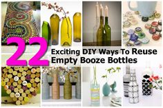 22 Exciting DIY Ways To Reuse Empty BoozeBottles - http://www.diyprojectsworld.com/22-exciting-diy-ways-to-reuse-empty-booze-bottles.html