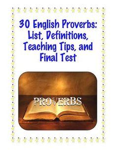 COMPLETE UNIT: Common Core Standard: Proverbs $2.50