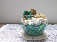 Dica de objeto decorativo: como fazer um mini terrário com suculentas de feltro  -  Blog Dona Engenhosa