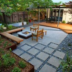 It's better to make a patio too large than too small. You can always put pots and planters in small backyard. You can see the ideas above, it's really perfect for small backyard design ideas.