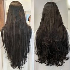 Pin on meus Pin on meus Haircuts For Long Hair With Layers, Long Hair Cuts, Straight Hairstyles, Long Hair Styles, Long Layerd Hair, Layered Hair, Long Hair Models, Goddess Hairstyles, Beautiful Long Hair