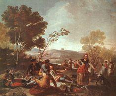 Francisco de Goya - Picnic en la ribera del manzanares.
