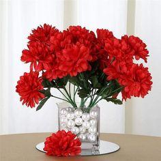 Red Wedding Flowers, Diy Wedding Bouquet, Silk Flowers, Bridal Bouquets, Paper Flowers, Wedding Favors, Valentines Day Decorations, Patriotic Decorations, Thanksgiving Decorations