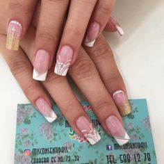 French Manicure Nail Designs, French Nails, Nail Art Designs, Hello Nails, Beauty Nails, Hair Beauty, Glamour Nails, Best Acrylic Nails, Brush Pen