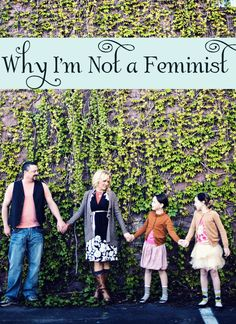 Why I'm Not a Christian Feminist.  A thoughtful and provocative post about what it means to be a woman in an ever-changing culture.