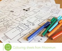 cool colouring sheets from MoonmuM
