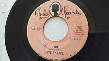 """FIVE BY FIVE - Fire / Hang Up 1968 GARAGE ROCK PSYCH Paula Records 7"""""""