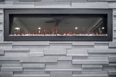 Fireplace done in Alfio Blended Charcoal by Rinox Manufactured Stone, Stone Veneer, Charcoal Color, Luxury Vinyl, Vinyl Flooring, Urban Design, Interior And Exterior, Concrete, Brick