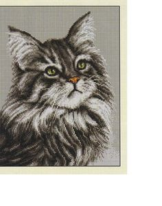 almost looks like my gray main coon- click on the pick and it will take you to the website where you will find all the charts and things you will need