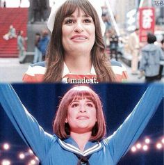 She believed she could so she did #rachelberry #leamichele #glee