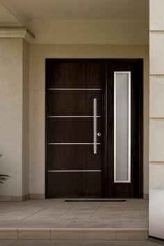 House Wall Design, Home Door Design, Door Design Interior, Main Door Design, House Front Design, Wooden Front Door Design, Double Door Design, Wooden Front Doors, Modern Entrance Door